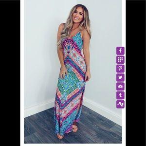 Brand NWT Mandala Print Maxi Dress 🌟